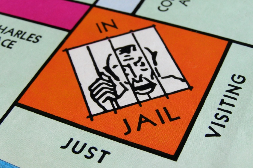 Monopoly in jail, just visiting - get out of jail on bail